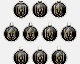 Mr.Eleven Vegas G.olden K.night Ice Hockey Logo Charms for Bracelet&NecklaceBest DIY Jewelry Making Pendants Gift for Fans