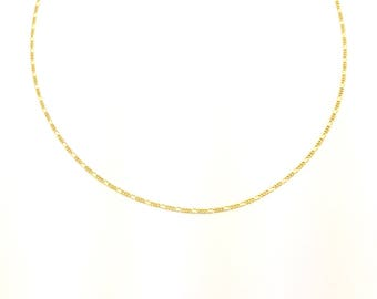 Figaro Choker | Curb Chain Choker | Gold Choker | Gold Necklace | Gold Chain | Gold Chain Necklace | Chain Choker | Chain Necklace | Gold