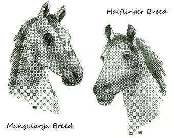 Hand Embroidery Kit: Blackwork Horse Hand Embroidery Kit - Needlework Pattern