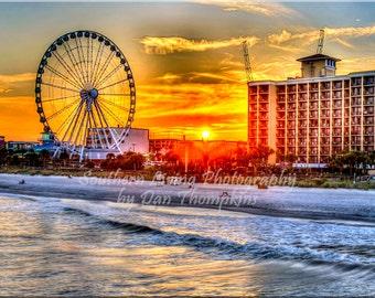 Sunset, Pier 14, SkyWheel, Myrtle Beach, South Carolina