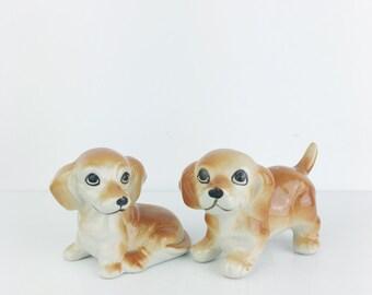 Vintage 1950s Dachshund Dog Ceramic Pair Figurines
