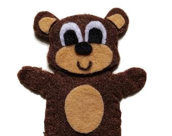 Brown Bear Felt Finger Puppet PDF Pattern Tutorial/ Zoo Animal Finger Puppet Digital Pattern