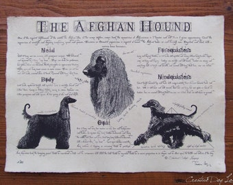 Antique styled dog standard - Afghan hound