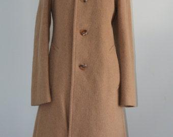 Vintage Mad Men Teller of Austria Wool Caramel Long Coat Jacket
