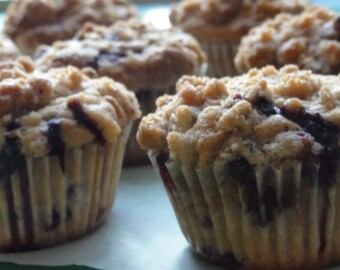1/2 dozen blueberry muffin , breakfast muffins, breakfast pastries ,fresh fruit muffins pastries,coffee cakes