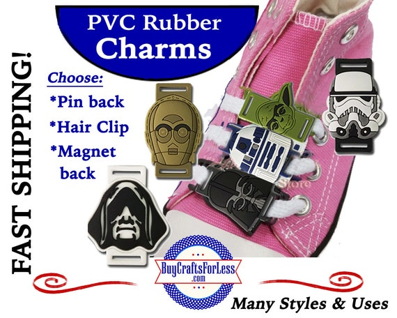 PVC Charms, FUTURiSTIC CHARACTERs with Adapter *20% OFF 4 PvC Charms+ShipFREE *Choose Button, Pin, Slider, Hair Clip, Reclosable Dot, Magnet