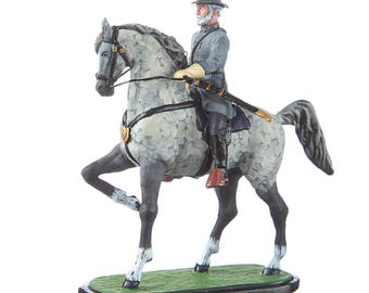 Tin Toy Soldier US Civil war Confederates General Robert Lee on the horse metal figurine 54mm hand painted #CW13