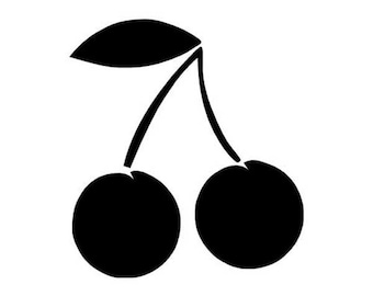 "Cherries Cherry- Vinyl Decal Sticker - 3.75"" x 4.15"" - 24 Colors - [#0159]"