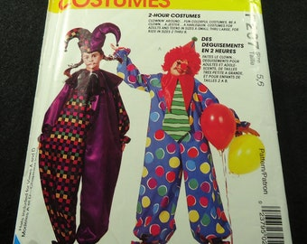 McCall's Clownin' Around Child's Clown Costume Pattern P207 Size 5, 6 2 Hour Costumes
