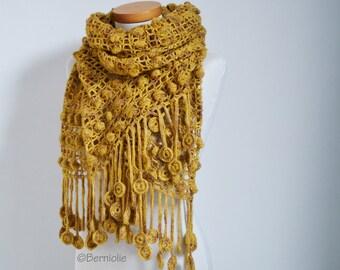 BASILIA, Crochet shawl pattern, pdf