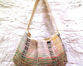 Ribbon Hand Weaving Bag