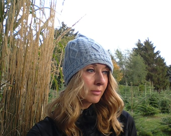 Winter cap, knit cap, self-knitted cap