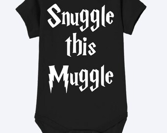 Snuggle this muggle harry potter onsie