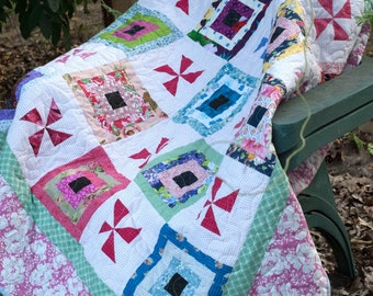 Cabins in the Wind lap or baby quilt pattern