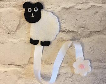 Handmade sheep bookmark