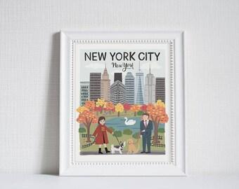 New York City (City Love) - Art Print (8x10)