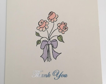 Thank you card - bouquet