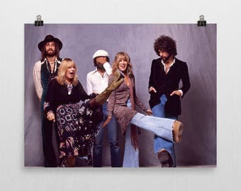Fleetwood Mac Poster - Stevie Nicks - 70's Music Poster - Bohemian Decor - Semi-Gloss Photo Paper Poster