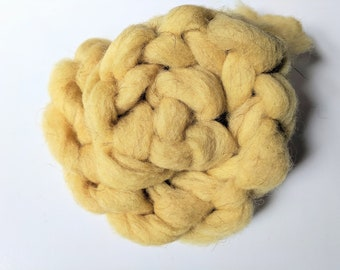 Naturally Dyed California Red Wool Roving Braid - Weld