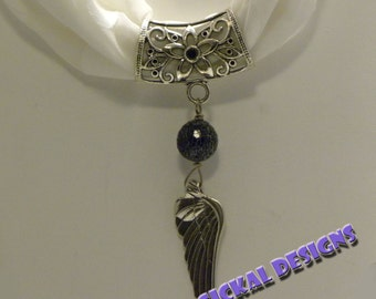 Dark Angel - Scarf Jewelry  string this pendant on your favorite scarf for a versatile fashion accessory