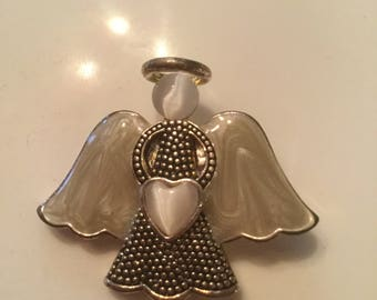 Mother of Pearl Angel Pin