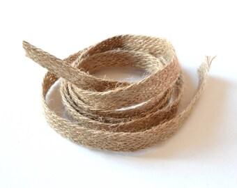 Braid hemp Ribbon natural 10 mm wide