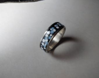 silver |enamel ring