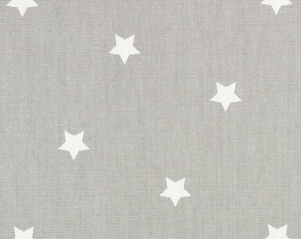 "0.5 yard Oilcloth - Laminated waterproof Cotton tablecloth Twinkle Grey 52"" wide"