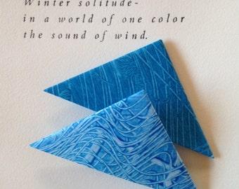 Origami Page Corner Bookmarks-Blue & Teal