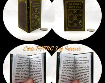 STANDARD BOOK of SPELLS 1:3 Scale 18 inch American Girl Doll Illustrated Spell Popular Boy Wizard Witch Fortune Teller Potter Magic Muggle