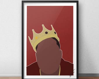 The Notorious B.I.G INSPIRED Print / Poster - Digital Copy