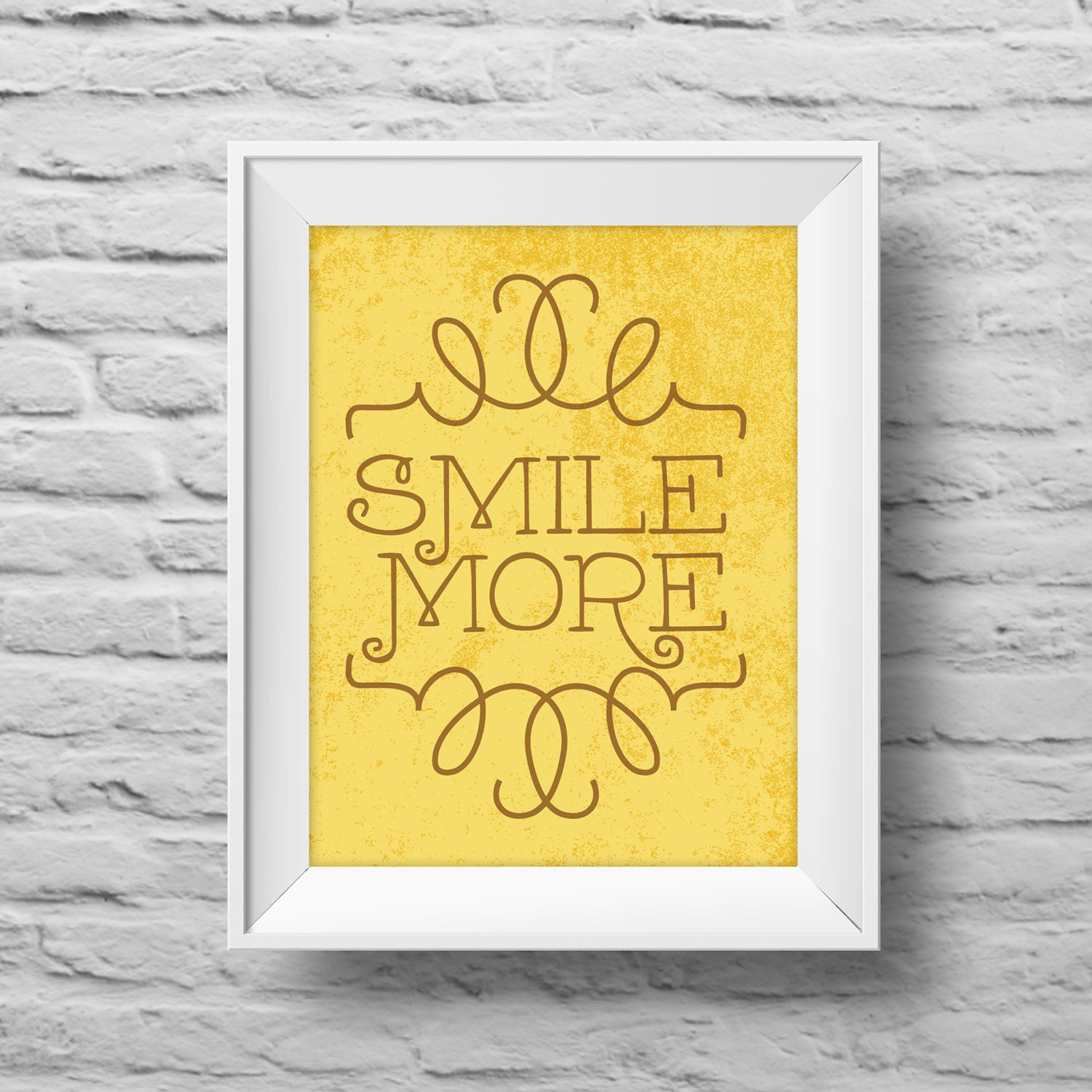SMILE MORE art print 8x10 Typographic poster, inspirational print ...