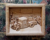 Old Truck Wood Carving, 1...
