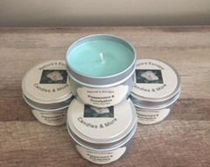 Peppermint & Eucalyptus Soy Wax 6 oz. Candle Tins