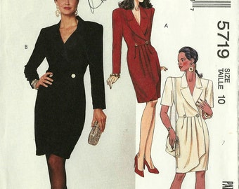McCall's 5719 Size 10 Misses Semi-Fitted Wrap Dress