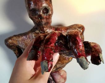 Zombie Hand Halloween Undead bloody zombie hand horror macabre monster dead finger OOAK Walking Dead