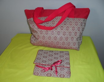 Tote bag and matching wallet