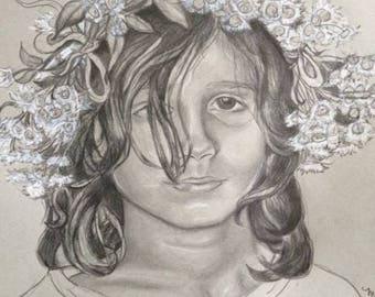 Custom Graphite Pencil Portrait/ Family/ Children