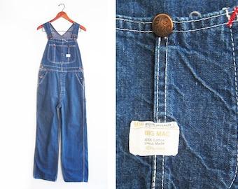vintage overalls / Big Mac overalls / vintage workwear / 1970s Union Made Big Mac denim overalls 32