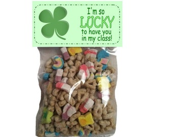 Lucky to have you - goody bags - bag toppers - St Patricks Day