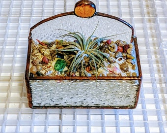 Stained Glass Air Plant Holder Free Shipping in U.S.