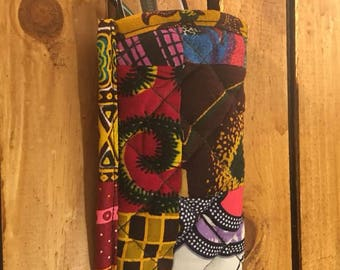 African Quilted Glasses Case