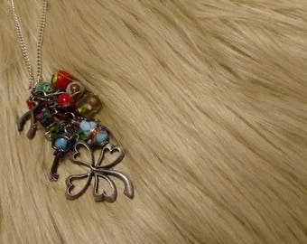 Lucky cluster charm necklace