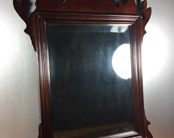 Chippendale Style Mirror with Beveled Edge