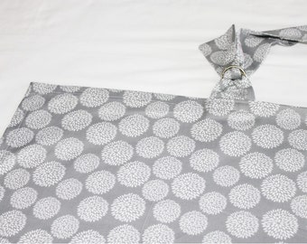 Grey and White Flowers Nursing Cover