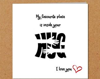 I LOVE YOU. Valentine, Anniversary, Birthday card. Girlfriend card, boyfriend card, husband card, wife card. Hug and hugging.