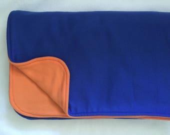 Blue & Orange Fleece Throw