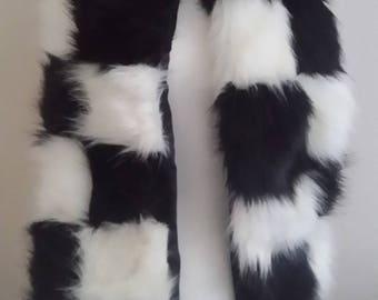 Designer Luxury Faux Fur Scarf