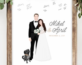 Wedding Guest Book Alternative Canvas Guest Book Idea with Portrait for Fun Wedding Guest Book Alternative Sign in Board Miss Design Berry