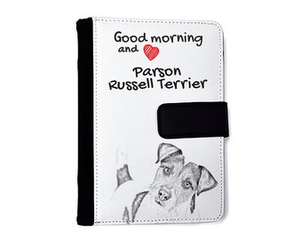 Parson Russell terrier- Notebook with the calendar of eco-leather with an image of a dog! NEW COLLECTION!